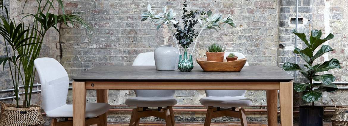 Ceramic dining tables