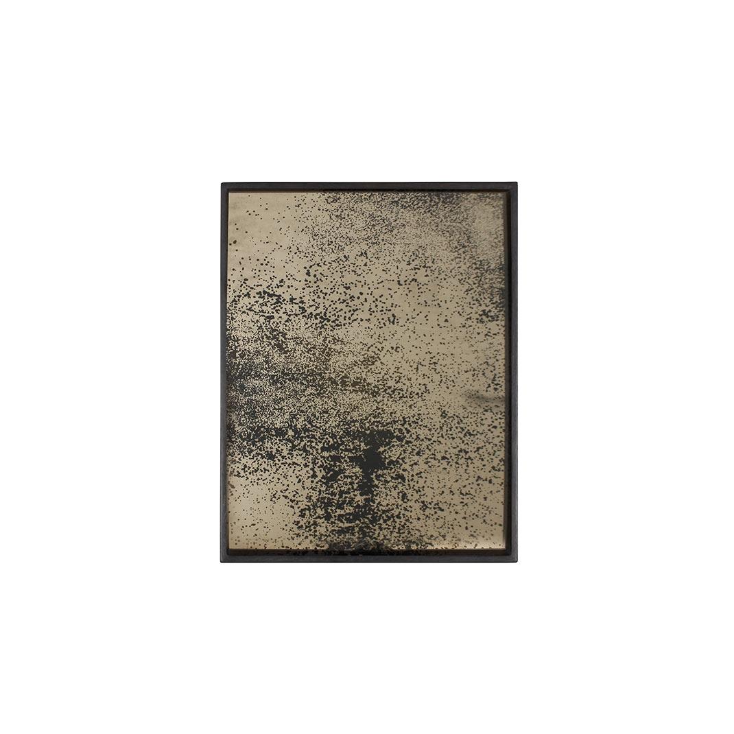Notre Monde Heavy Aged Bronze - Mirror Square Tray - Small 46cm