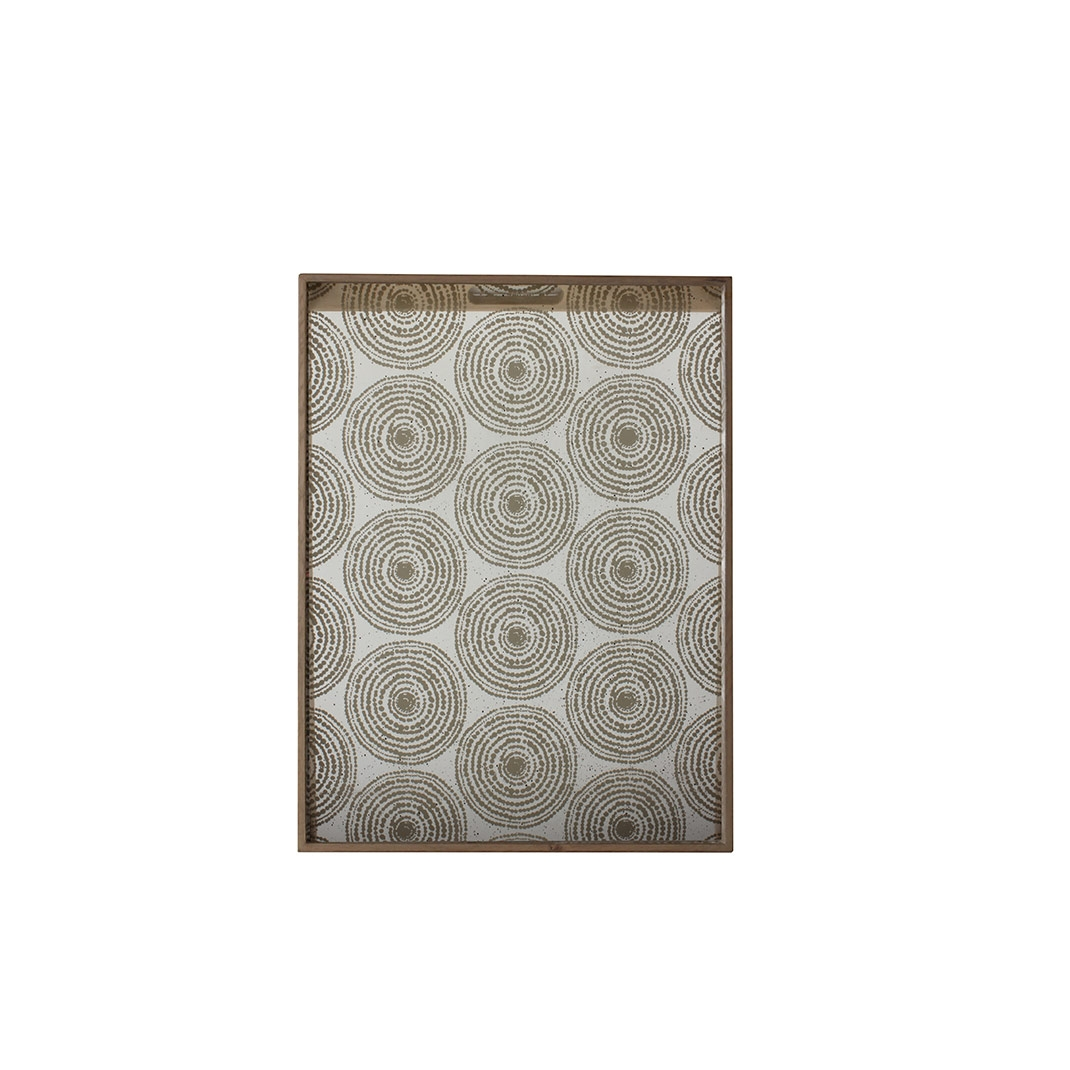 Notre Monde Gold Beads - Mirror Rectangle Tray - Large 61cm