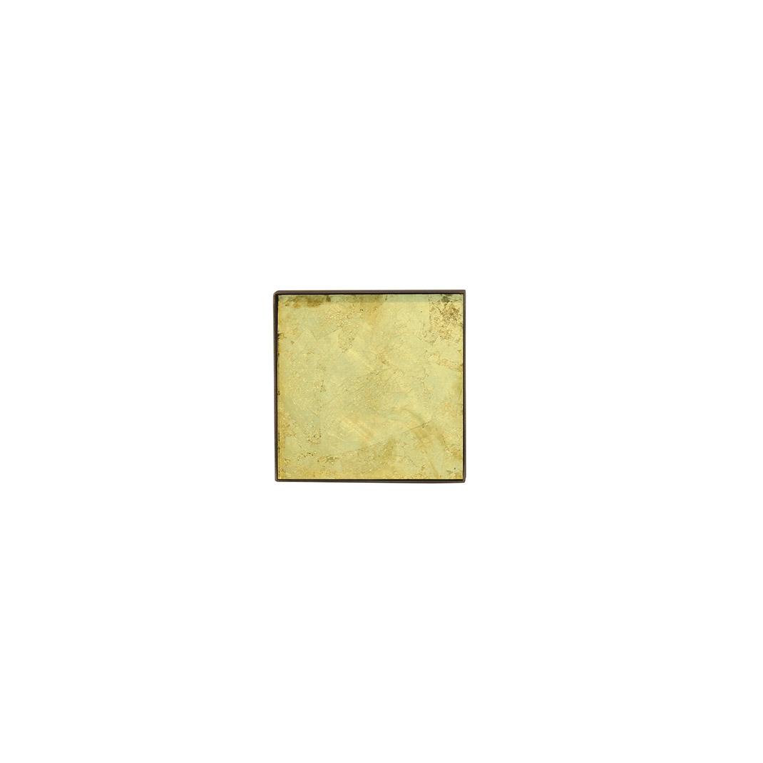 Notre Monde Gold leaf glass mini tray - Small