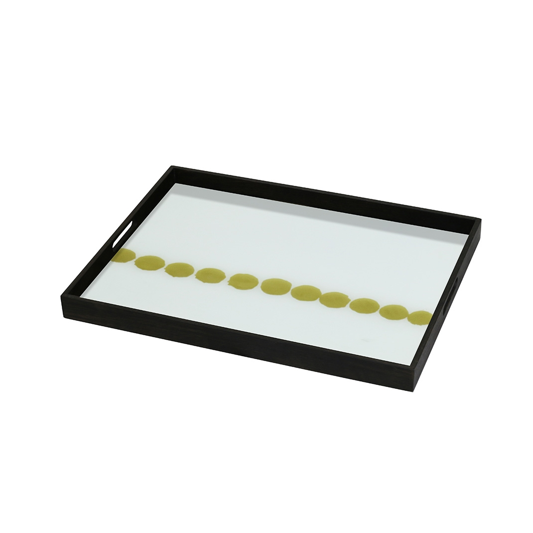 Notre Monde Dotted Line - Glass Square Tray - Small 46cm