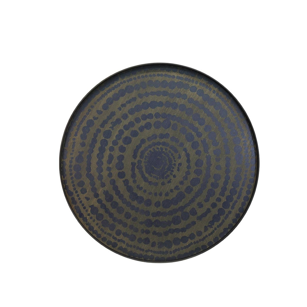 Notre Monde Stained Beaded - Driftwood Round Tray - XL 92cm