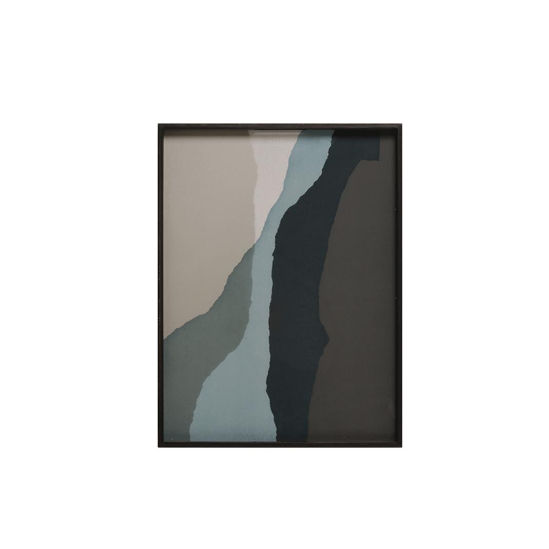 Notre Monde Graphite Wabi Sabi - Glass Rectangle Tray - Medium 61cm