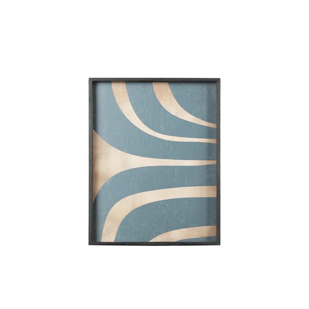 Notre Monde Slate Curves - Driftwood Rectangle Tray - Large 61cm