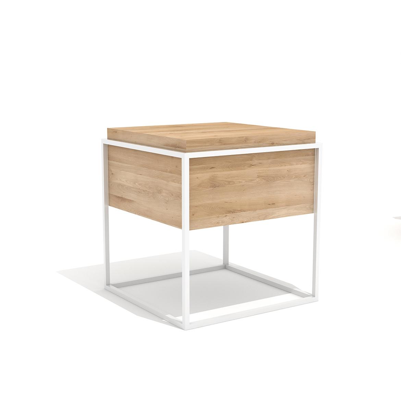 Ethnicraft Oak Monolit Bedside tables