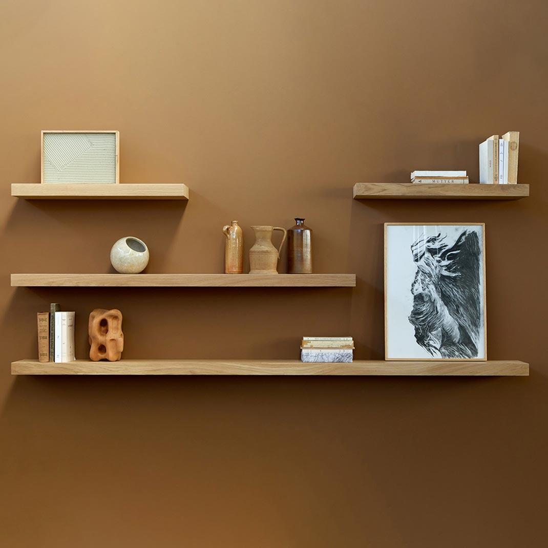 Ethnicraft Oak wall shelves