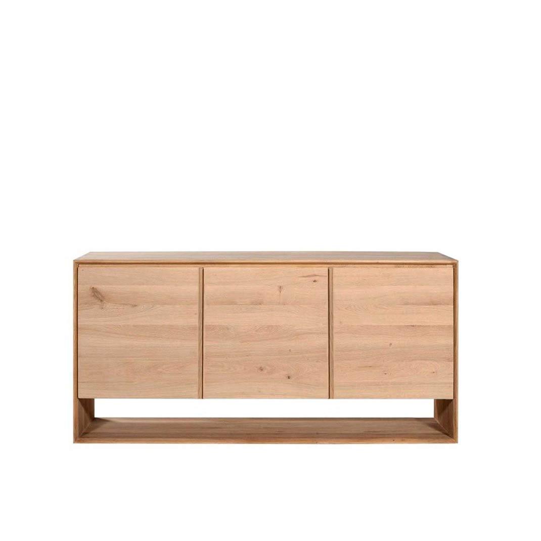 Oak Nordic sideboard - 3 doors - 158cm x 45cm x 78cm