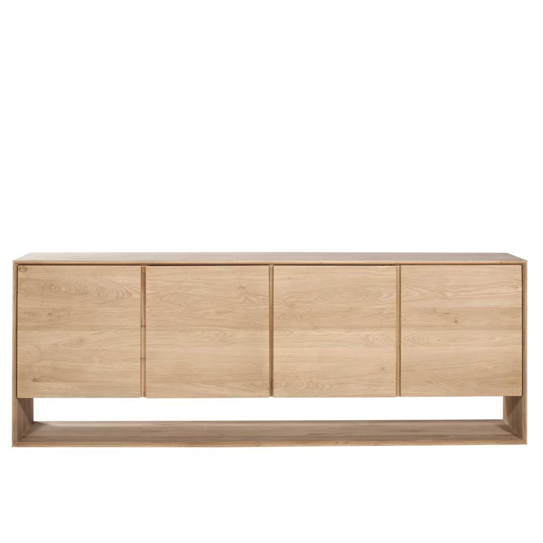 Oak Nordic sideboard - 4 doors - 210cm x 45cm x 78cm