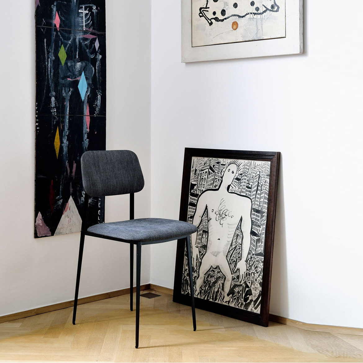 Ethnicraft Anders DC dining chair - Dark Blue