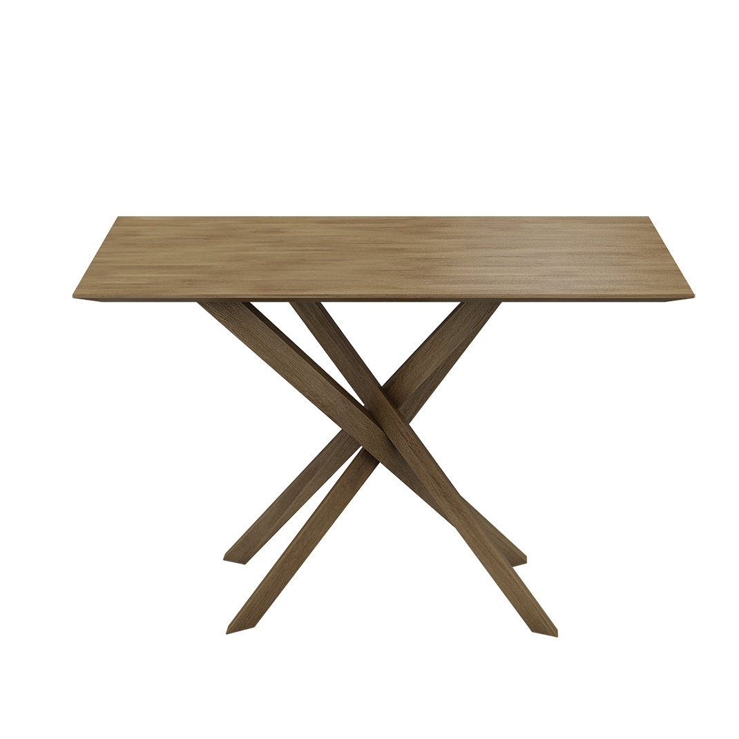 Akira oak rectangular dining table