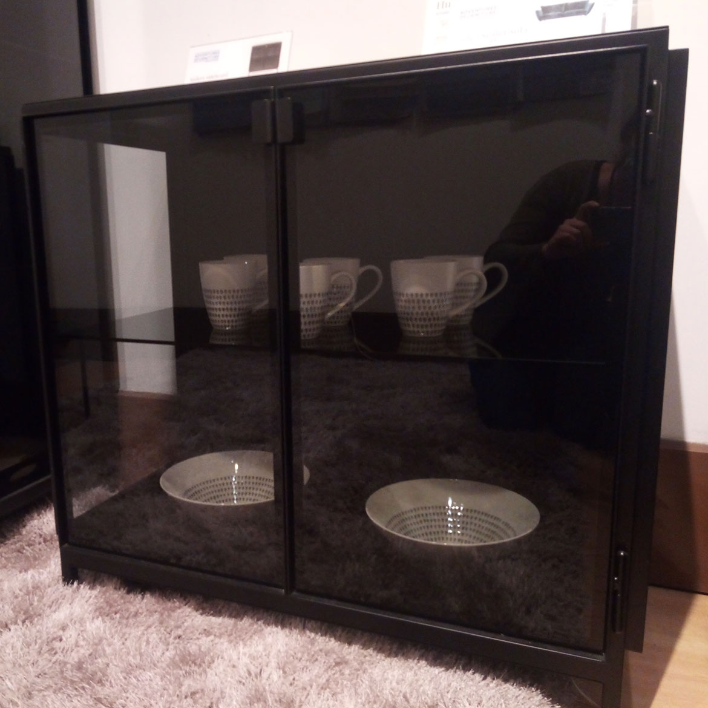 Ex display Anders 2 door glass + metal cupboard (222579)