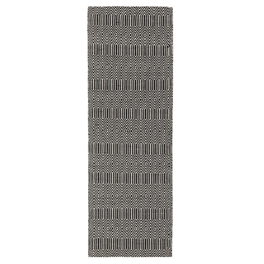 Anouk runner rug - Black and white