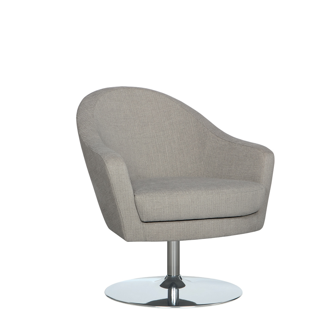 Arc swivel armchair