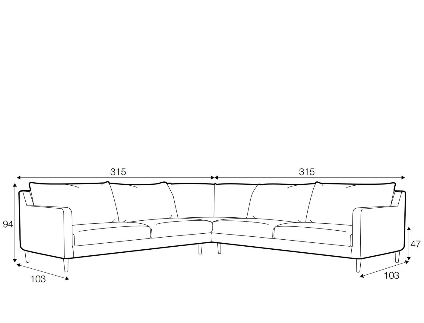 Austin corner sofa - set 5