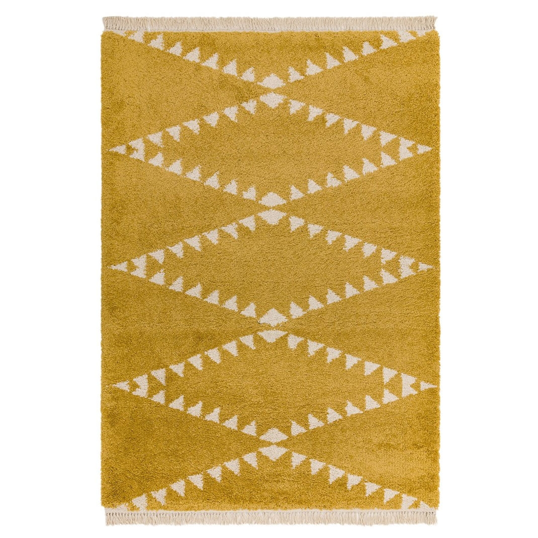 Berber Rug Tribal - Mustard