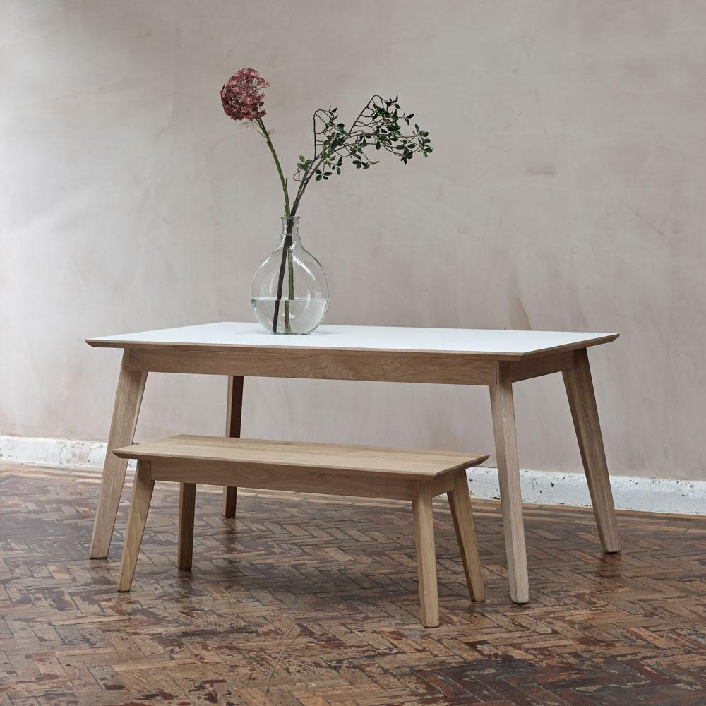 Bianco oak bench