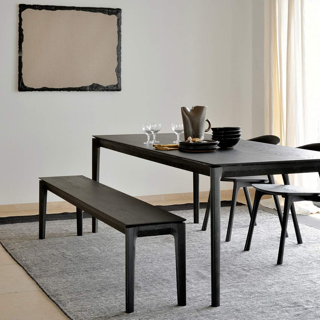 Ethnicraft Bok Black oak dining table