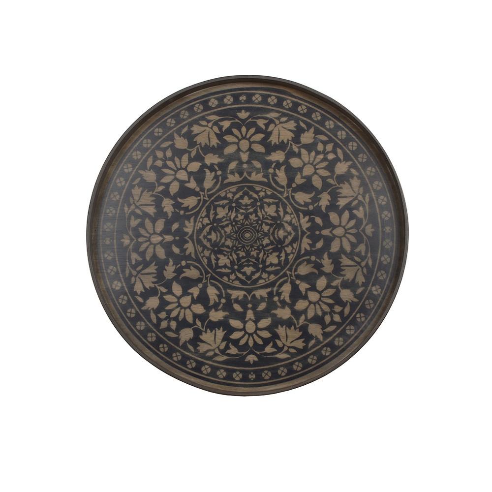Notre Monde Black Marrakech - Driftwood Round Tray - Medium 61cm