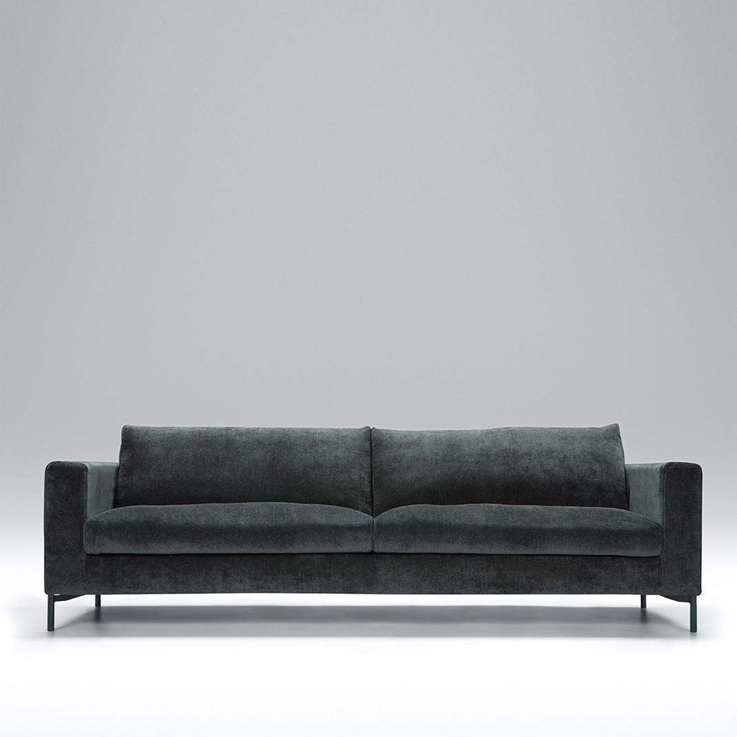 Blade 4 seater leather sofa