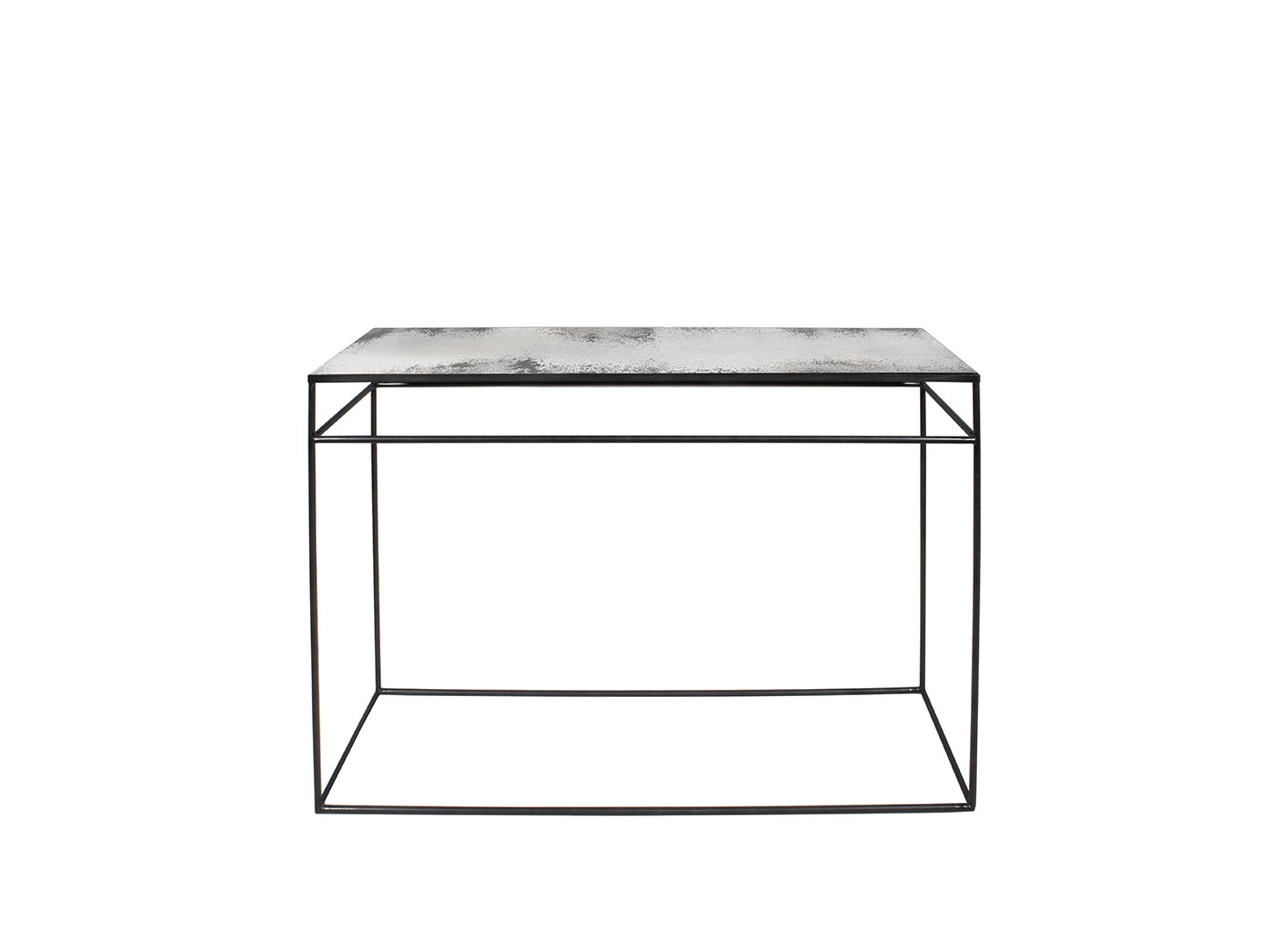 Notre Monde Heavy aged mirror console - Clear