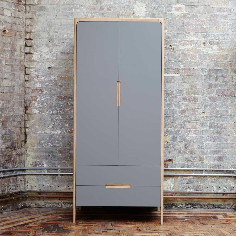 Como narrow wardrobe - 2 doors, 2 drawers