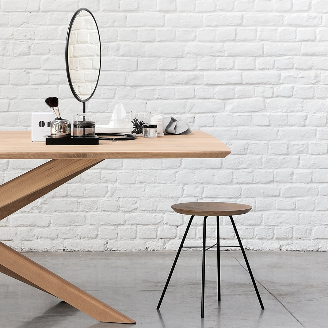Ethnicraft Oak Disc stool