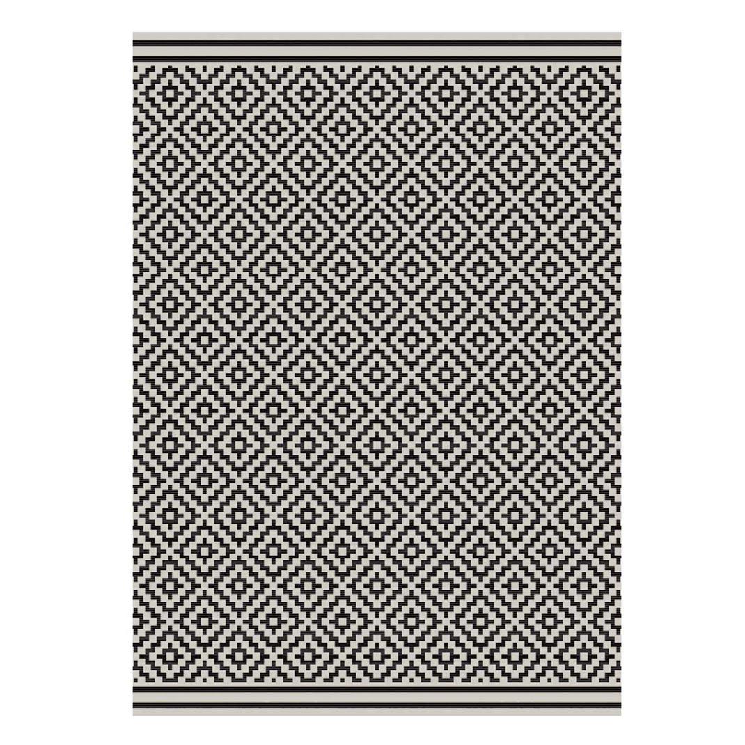 Havana indoor and outdoor black diamond rug