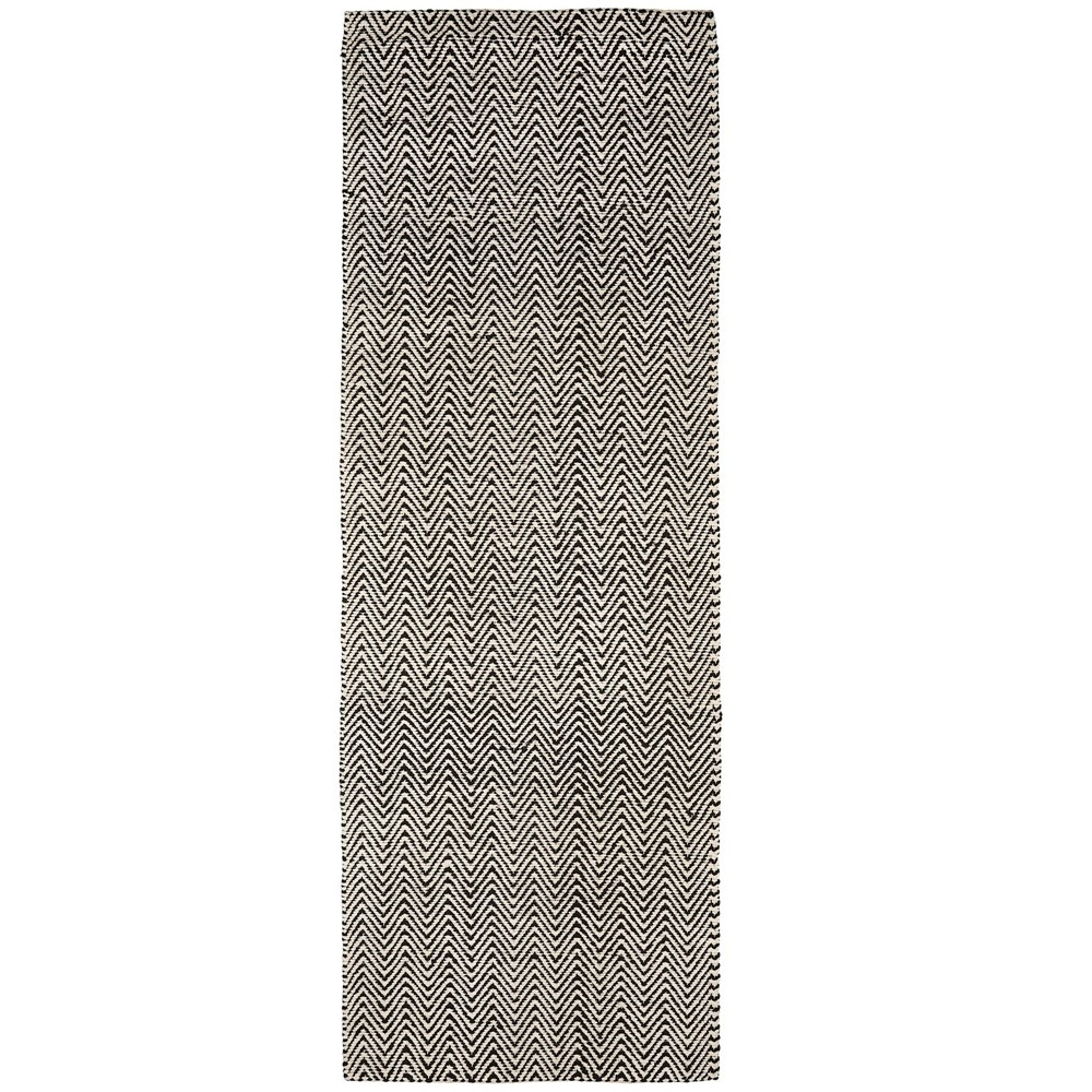 Ivy runner rug - Black and white