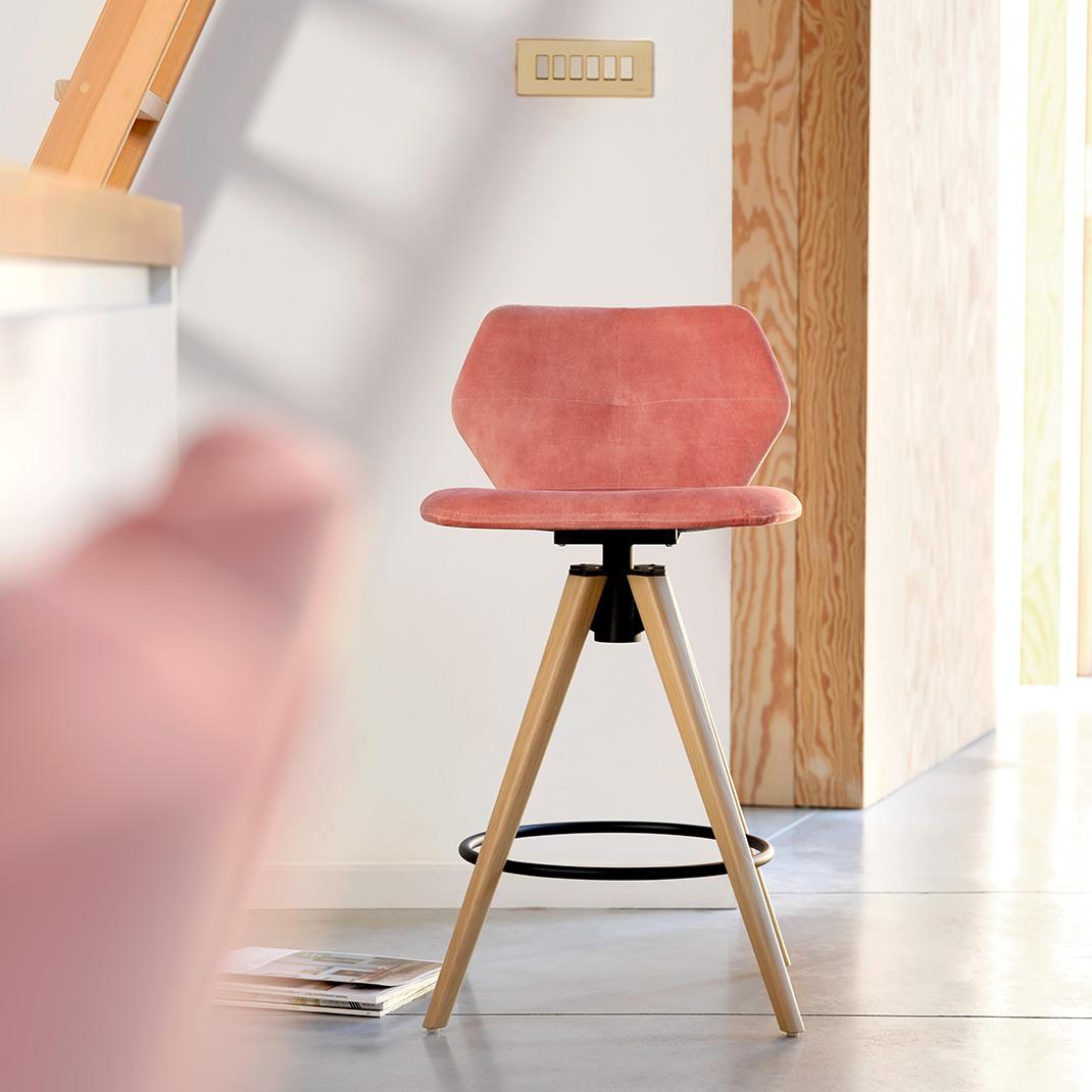Jay 91 swivel counter stool - 65cm