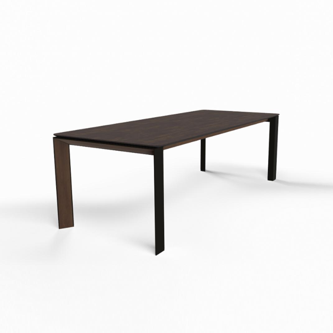 Mason metal leg PB3 Ceramic + walnut dining table