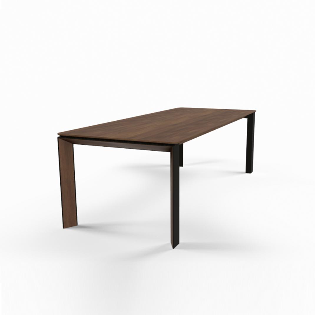 Mason metal leg PB3 walnut dining table