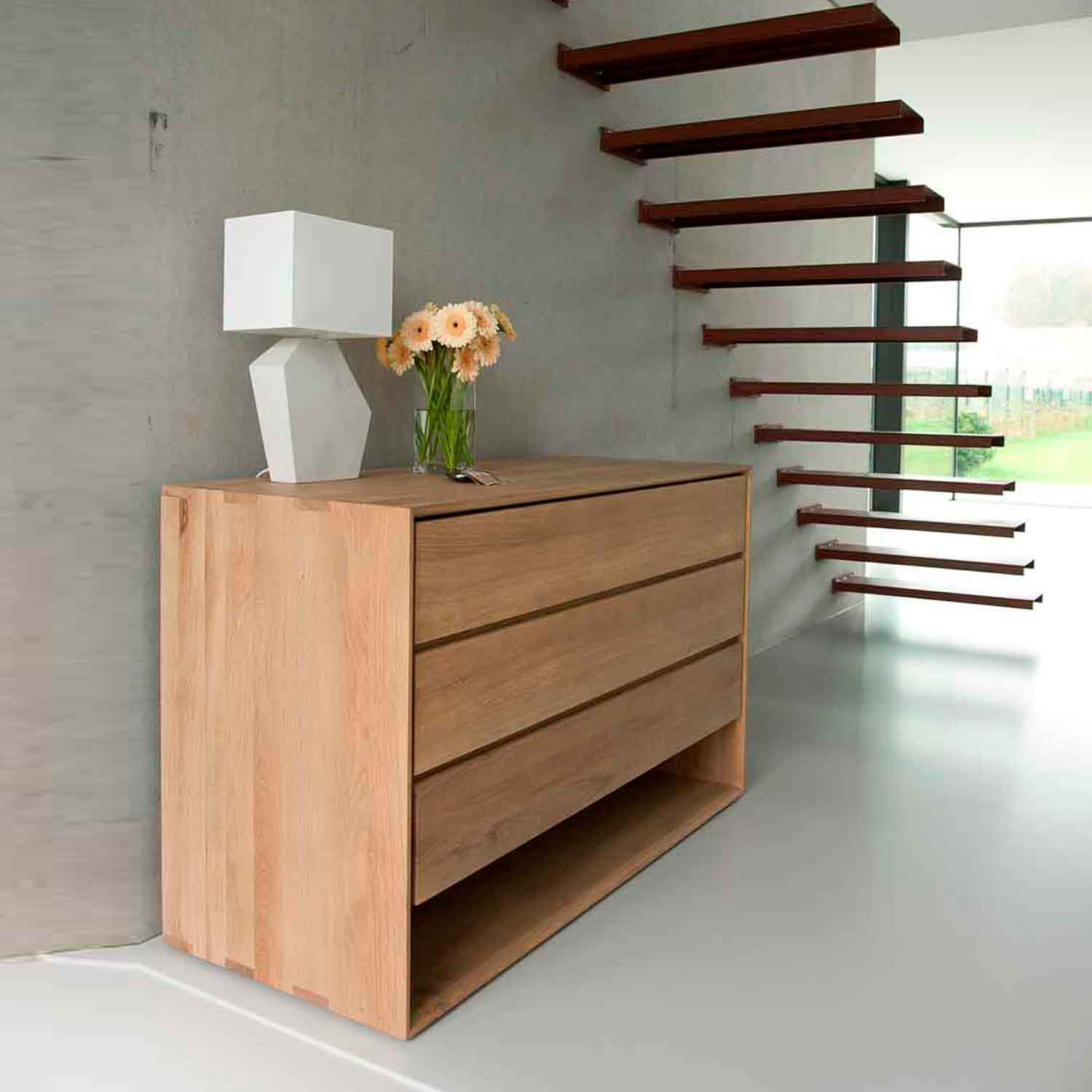 Ethnicraft Oak Nordic chest of drawers - 3 drawers