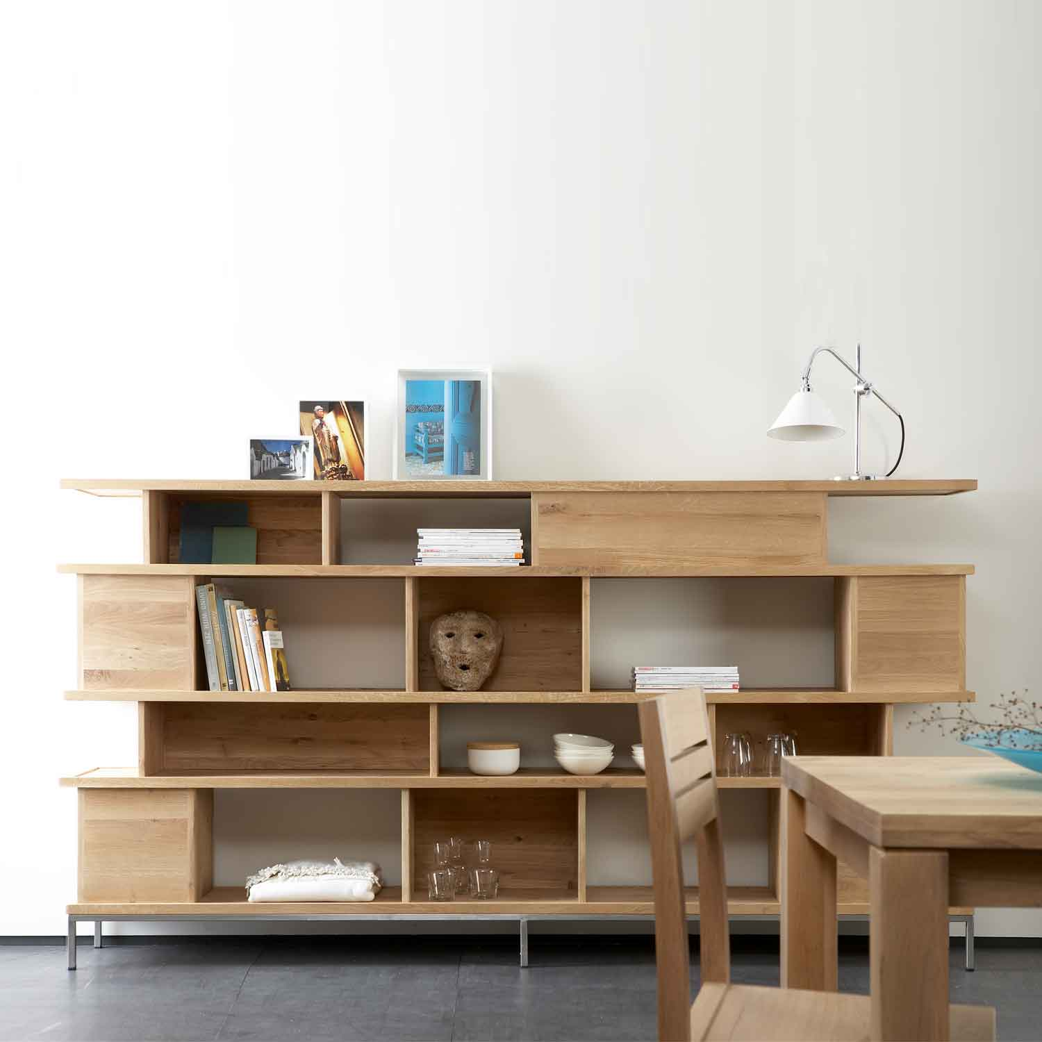 Ethnicraft Oak Ligna bookcases / room dividers