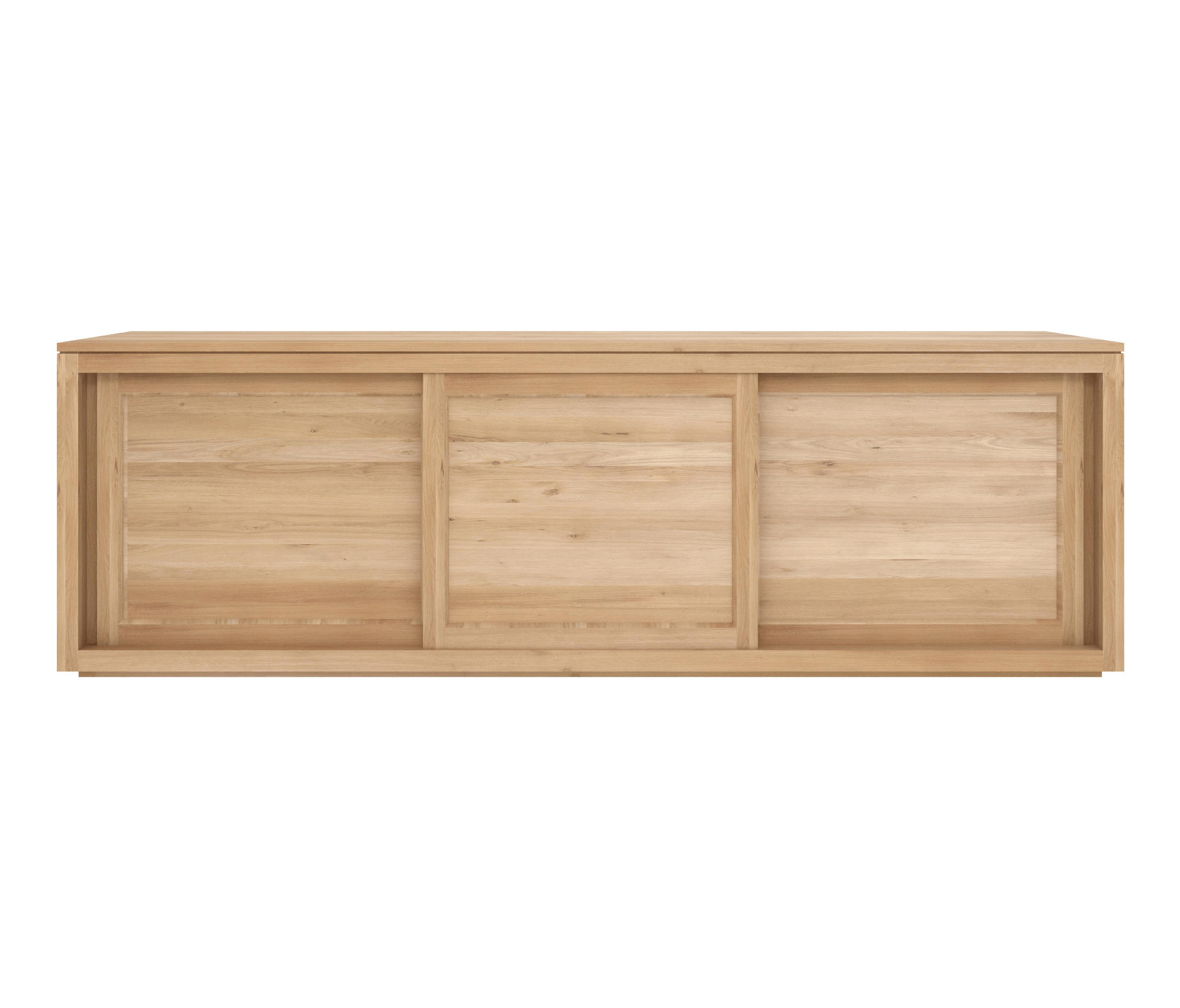 Ethnicraft Oak Pure sideboard 200 cm - 3 sliding doors
