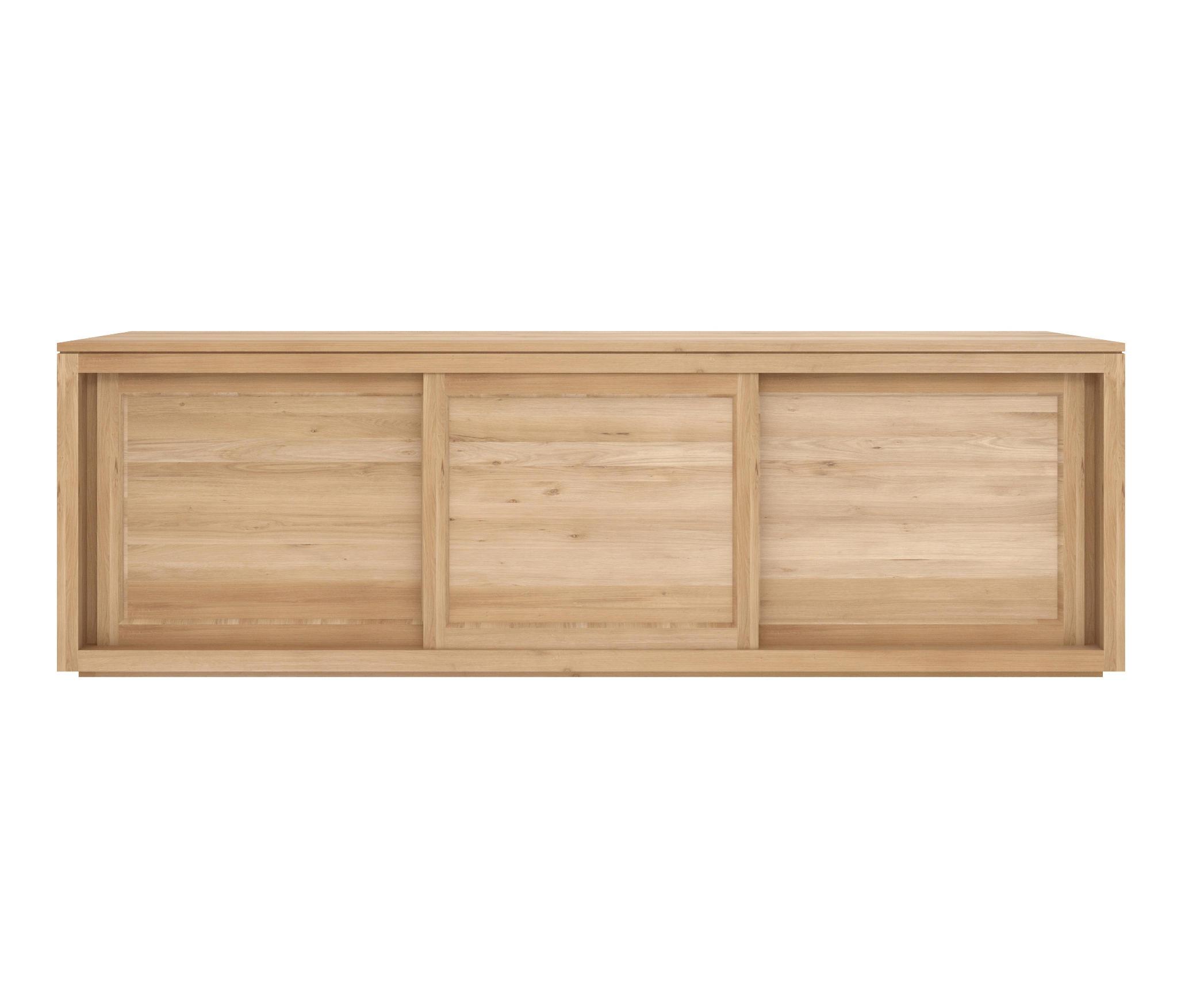 Ethnicraft Oak Pure sideboard 250 cm - 3 sliding doors