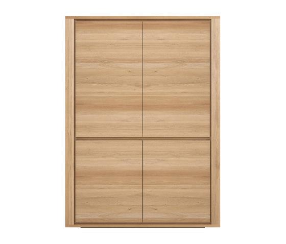 Ethnicraft Oak Shadow storage cupboard - 4 doors