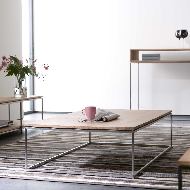 Ethnicraft Oak Thin coffee tables