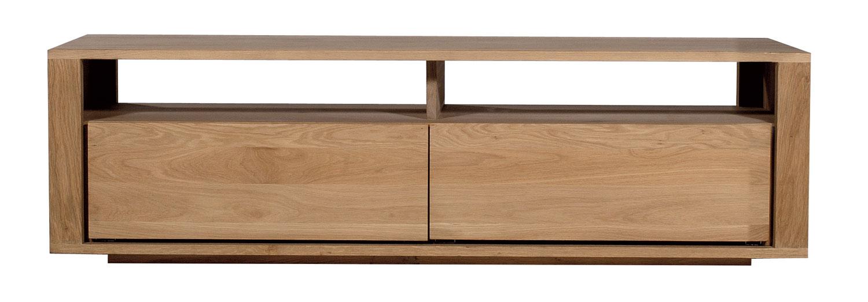 Ethnicraft Oak Shadow TV cupboard 140cm - 2 drawers