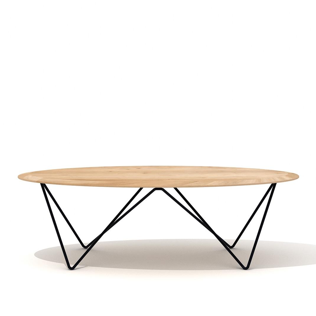 Ethnicraft Oak Orb coffee table round