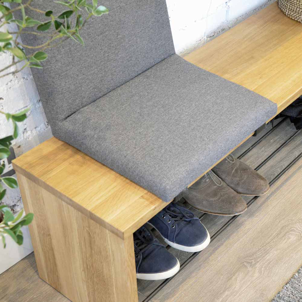 Vestibule shoe bench with Flip seat