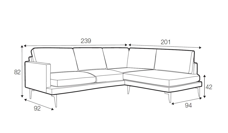 Luma corner sofa - set 4
