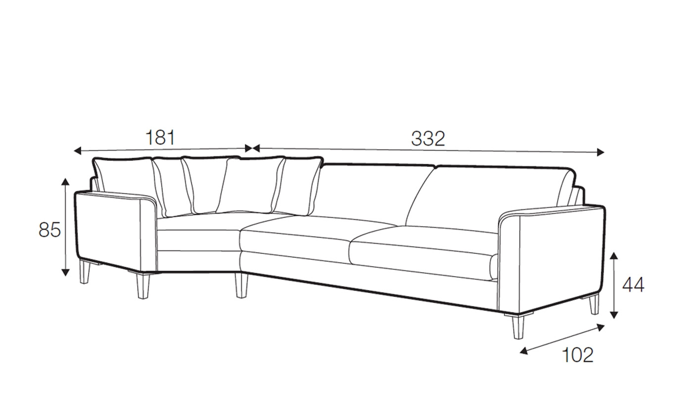 Hacienda corner sofa - set 5