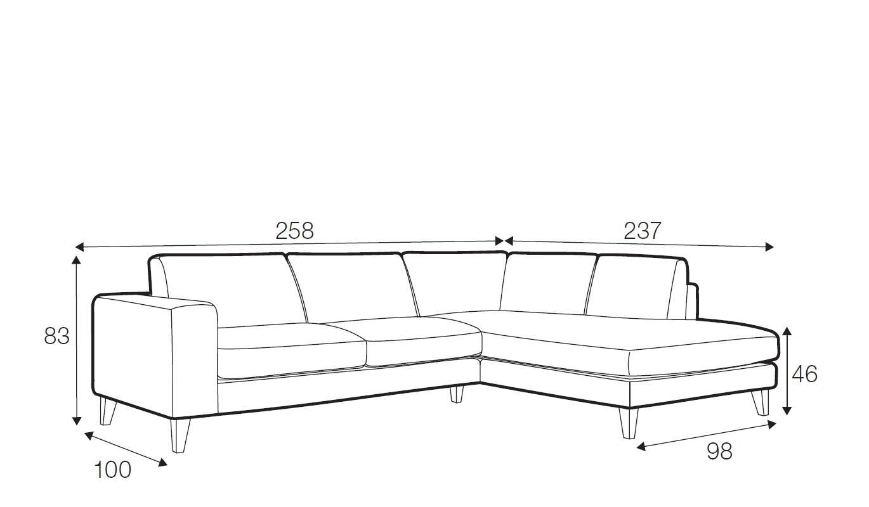 Sunday corner sofa - set 7