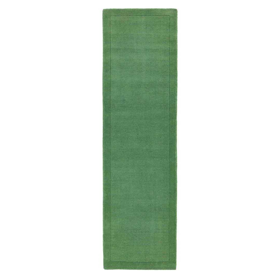 Shire runner rug - Forest green