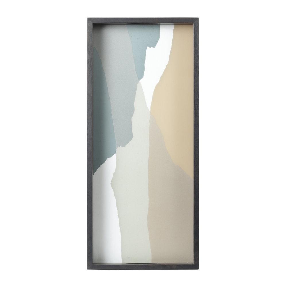 Notre Monde Slate Wabi Sabi - Glass Rectangle Tray - Medium 69cm