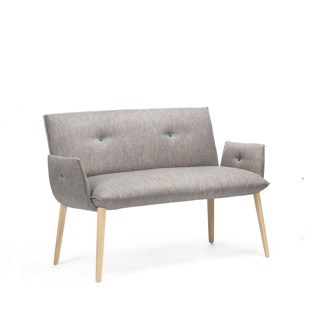 Soda duo bench with armrest
