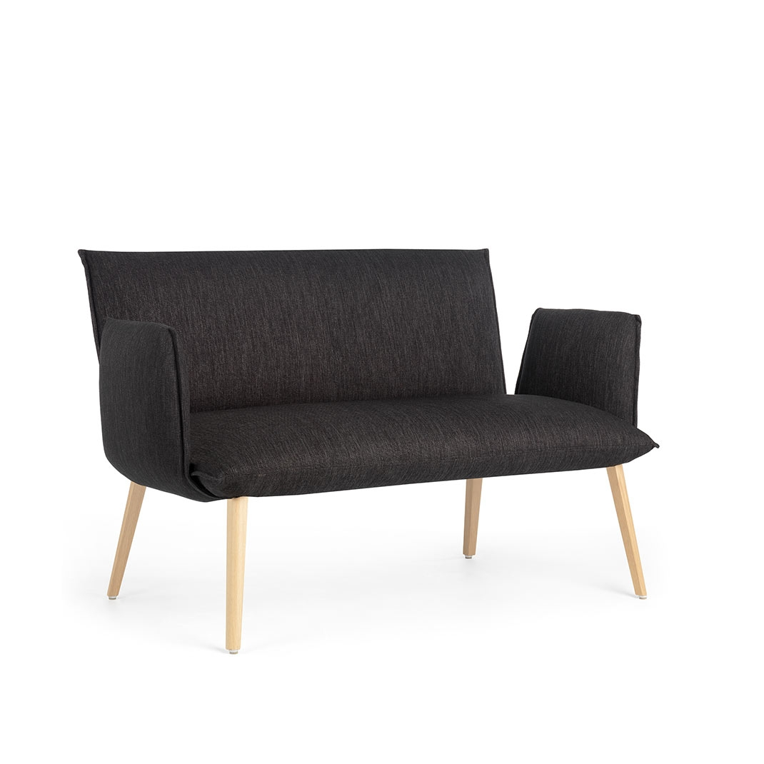Soft Duo bench with armrest