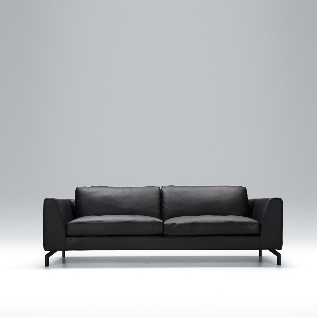 Tahoe 3 seater leather sofa
