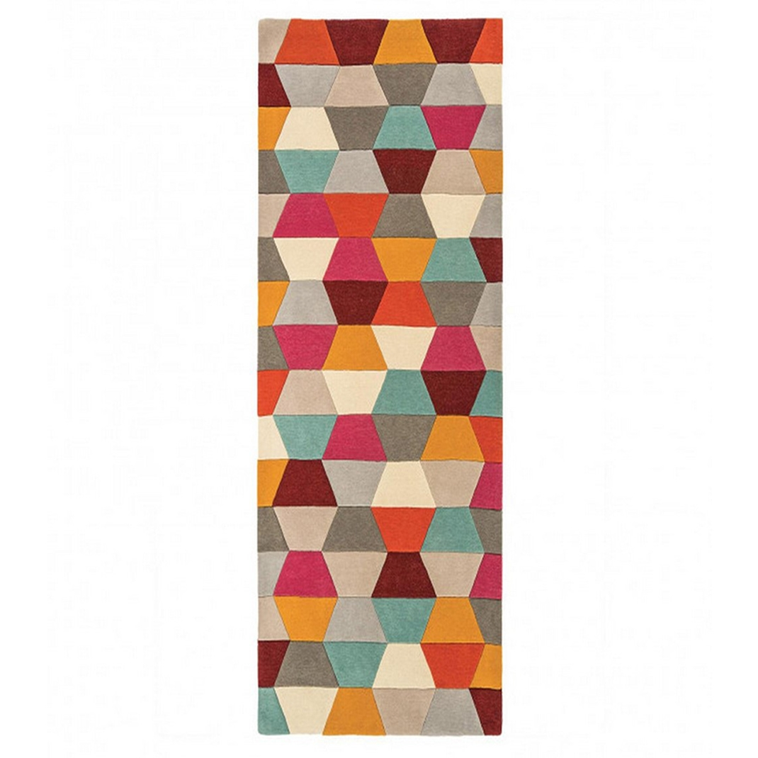 Tetra runner rug - Honeycombe