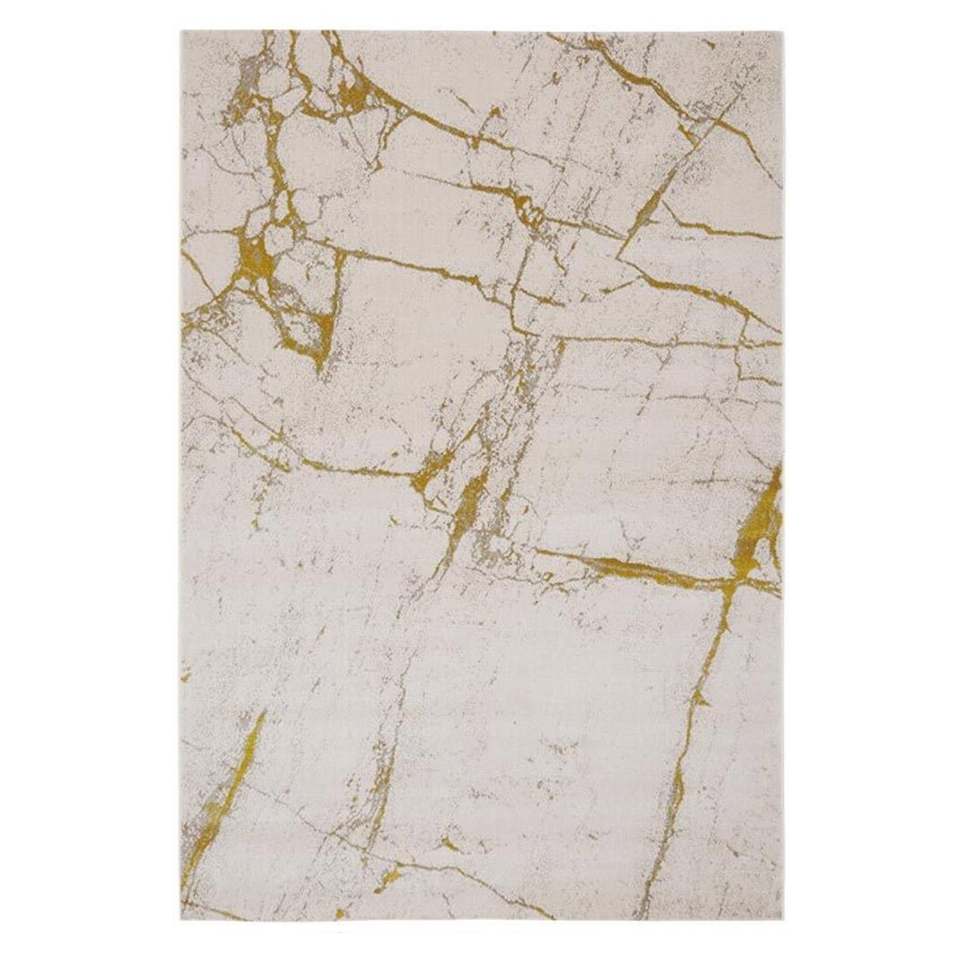 Thunder Rug - Ochre marble